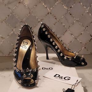 """DOLCE & GABANNA """"vintage"""" studded spike heel"""